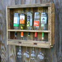 Wall Wine Rack Reclaimed Wood