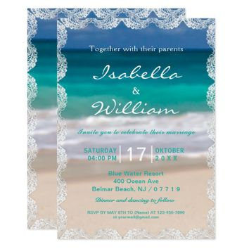 Ocean Beach Summer Wedding Invitation