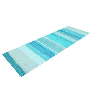 "CarolLynn Tice ""Sand Bar"" Teal Blue Yoga Mat"