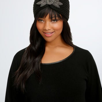 Bead Applique Sweater Headwrap