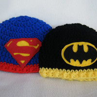 Crocheted Batman Baby Hats - Made to Order