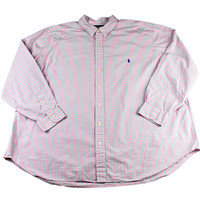 Ralph Lauren Pink/Green Check Button Down Shirt Mens Size 3XB