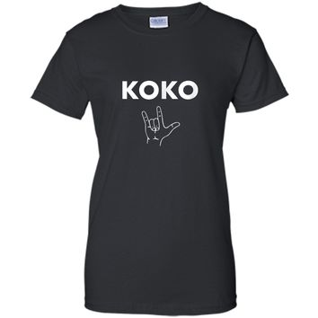 Koko I Love You- Gorilla Sign Language Tribute T-Shirt Ladies Custom