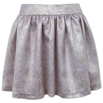 Lilac Jacquard Skater Skirt - Skirts - Clothing - Miss Selfridge