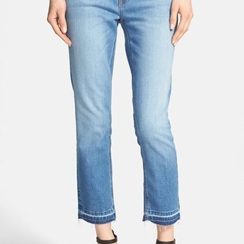 Women's Current/Elliott 'The Cropped Straight' Ankle Jeans,