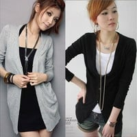 Hot Women's Casual Long Sleeve Knitwear Jumper Cardigan Long Coat Jacket Sweater Free size [8833952204]