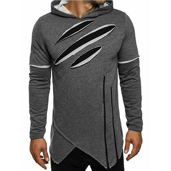 Male Black Green Gray Casual Hoodies