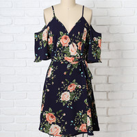 Esme Floral Cold-Shoulder Dress