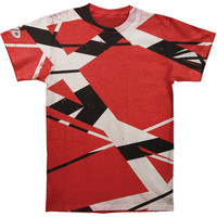 Van Halen Men's  Frankenstein Vintage T-shirt Red