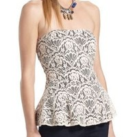 Sweetheart Lace Peplum Top - Anthropologie.com