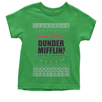 Happy Holidays from Dunder Mifflin Ugly Christmas Youth T-shirt