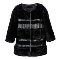 Cynthia Rowley -  Leather and Fur Coat