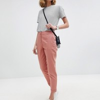 ASOS Tailored Linen Cigarette Trousers at asos.com