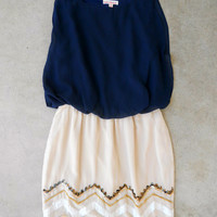 Navy Starbound Dress : Vintage Inspired Clothing & Affordable Dresses, deloom | Modern. Vintage. Crafted.