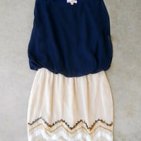 Navy Starbound Dress [4992] - $42.00 : Feminine, Bohemian, & Vintage Inspired Clothing at Affordable Prices, deloom
