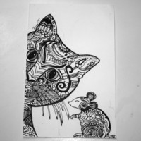 12 Hand drawn Doodle cards - Little Critters