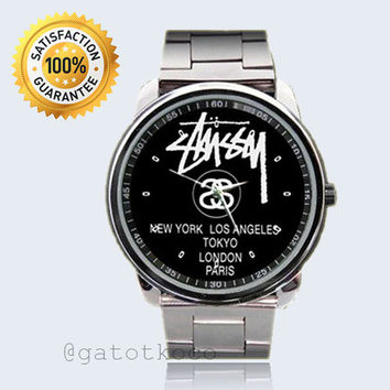 Stussy Black World Tour NY, LA, Tokyo, London, Paris Sport Watches