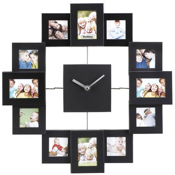 Sentiment Photo Wall Clock Set