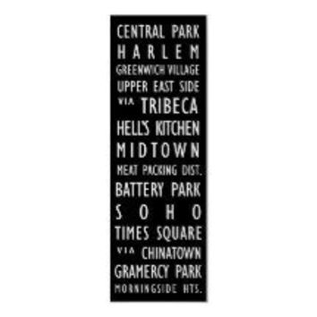 New York Vintage Transit Scroll #1 Poster