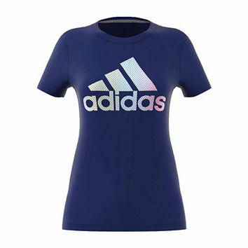 adidas Short Sleeve Crew Neck T-Shirt-Womens - JCPenney