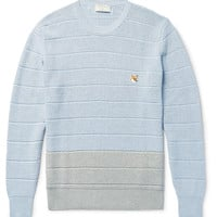 Maison Kitsuné - Two-Tone Cotton Sweater