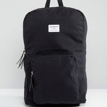 Sandqvist Kim Backpack in Black at asos.com