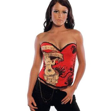 Shaper Body Waist Classics Sexy Red Cartoons Girl Pattern Corset [4965296644]
