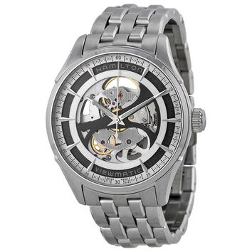 Hamilton Jazzmaster Viewmatic Grey Skeleton Dial Stainless Steel Mens Watch