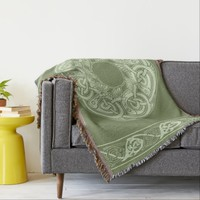 Celtic Knotwork Fish in Green Throw