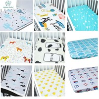 High Quality 100% Organic Cotton Baby Crib Sheets,Super Sofe New Design Crib Sheets Fits For Babies And Toddlers In Bedding Set