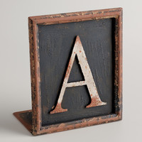 A Letter Bookend - World Market