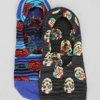 Day Of The Dead Rose Blanket No-Show Sock - Urban Outfitters