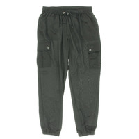 Michael Kors Womens Cargo Solid Jogger Pants