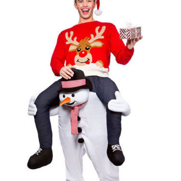 Carry Me Snowman Stag Costume