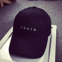 Black Embroidered Baseball Hat Cap