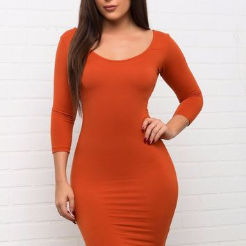Serena Dress - Orange
