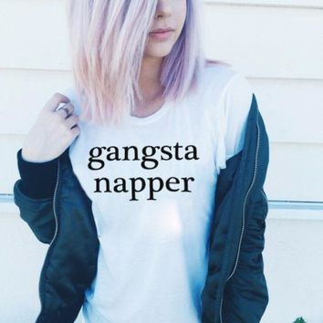 ac NOVQ2A Gangsta Napper Shirt in White for Women