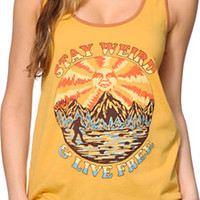 Obey Stay Weird Yellow Rookie Tank Top