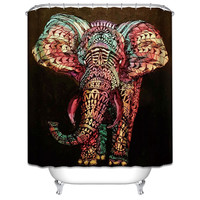 Elephant Boho Shower Curtain