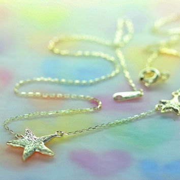 925 sterling silver star/ cute starfish necklace