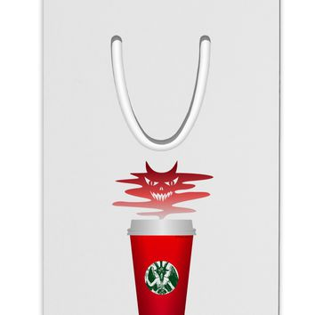 Red Cup Satan Coffee Aluminum Paper Clip Bookmark by TooLoud