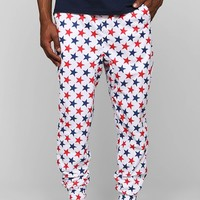 Red & Blue Stars Lounge Pant - Urban Outfitters