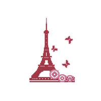 Cross stitch pattern PDF Eiffel Tower Instant Download
