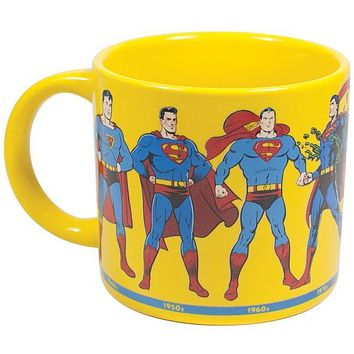 PHILOSPHERS GUILD SUPERMAN THROUGH THE YEARS MUG