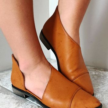 Let It Out Flats: Cognac