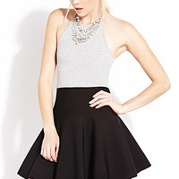 FOREVER 21 High-Waisted Skater Skirt