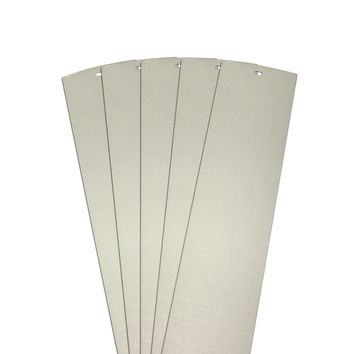 DALIX Lino Vertical Window Blinds Slats Replacement Parts Off White 5 Pack