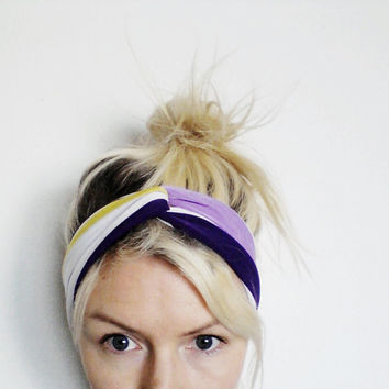 The Twist Turban Headband In Purple and by SevenWhiteRabbits