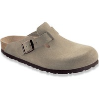Birkenstock Men's Boston Soft Foot Bed Taupe Suede Shoes (R)