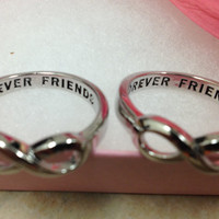 Infinity Ring Forever Friends Infinity Ring, infinity sisters, best friend infinity ring, infinity knot, infinity sister, best friends